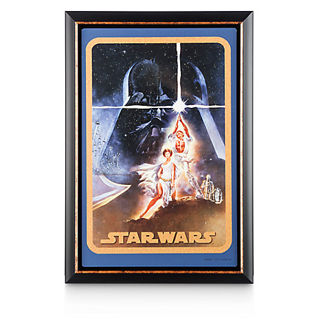 Star Wars Movie Poster Reproduction Metal Print - Framed - Original One Sheet