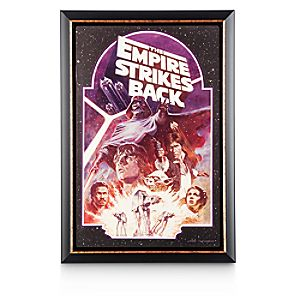 Star Wars: The Empire Strikes Back Movie Poster Reproduction Metal Print – Framed
