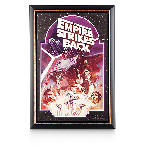 Star Wars: The Empire Strikes Back Movie Poster Reproduction Metal Print - Framed