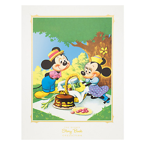 Mickey and Minnie Mouse Picnic Deluxe Print - Matted