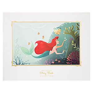 Ariel and Flounder Deluxe Print