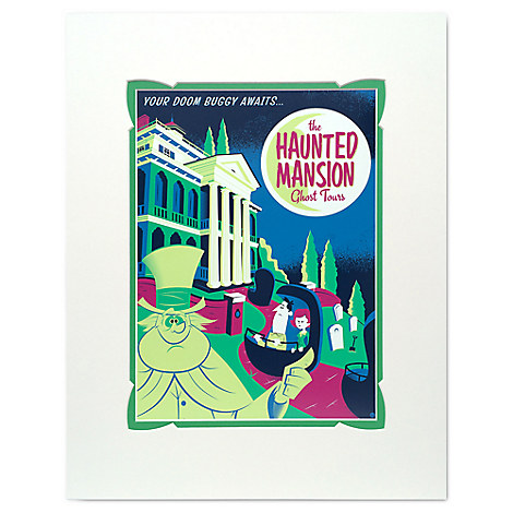 Haunted Mansion ''Your Doom Buggy Awaits'' Deluxe Print by David Perillo