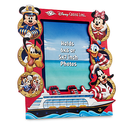 Captain Mickey Mouse and Friends Photo Frame - Disney Cruise Line - 6'' x 8'' or 5'' x 7''