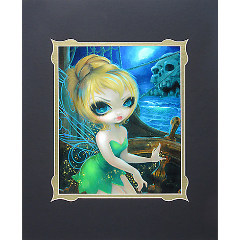 ''Tinker Bell at Skull Rock'' Deluxe Print by Jasmine Becket-Griffith