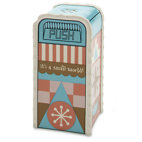 ''it's a small world'' Trash Can Salt or Pepper Shaker