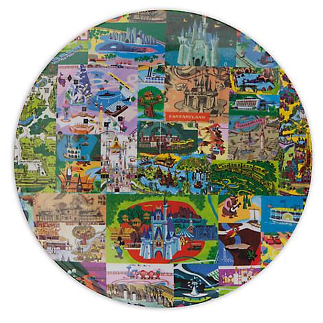 Magic Kingdom Map Plate - 7''