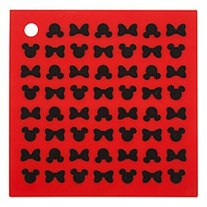 Mickey and Minnie Mouse Icons Colorful Kitchen Silicone Trivet