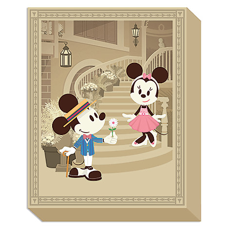 Mickey and Minnie Mouse ''Courting Minnie'' Giclée on Canvas by Jerrod Maruyama - Medium - Limited Edition
