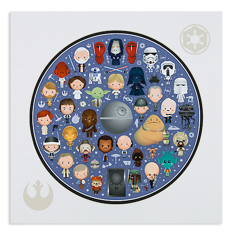 Star Wars ''Galaxy of Cute'' Deluxe Print by Jerrod Maruyama - 14'' x 14''