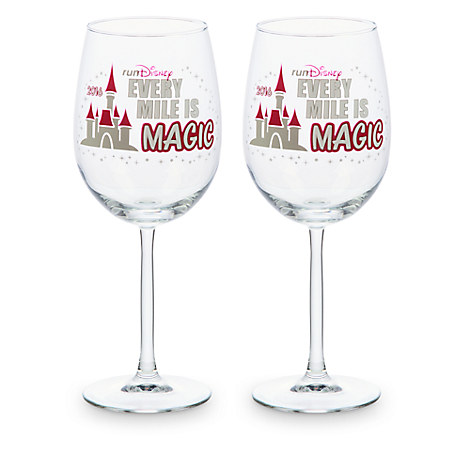runDisney 2016 Stemmed Glass Set