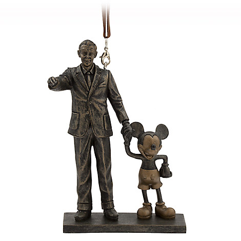 Walt Disney and Mickey Mouse ''Partners'' Figural Ornament