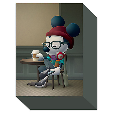 Mickey Mouse ''Cafe Hipster'' Giclée by Jerrod Maruyama - Small - Limited Edition