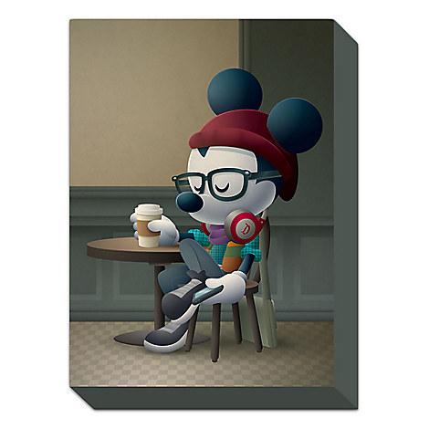 Mickey Mouse ''Cafe Hipster'' Giclée by Jerrod Maruyama - Medium - Limited Edition