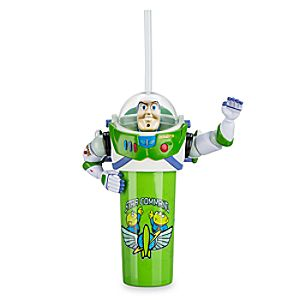 Buzz Lightyear Figural Tumbler with Straw