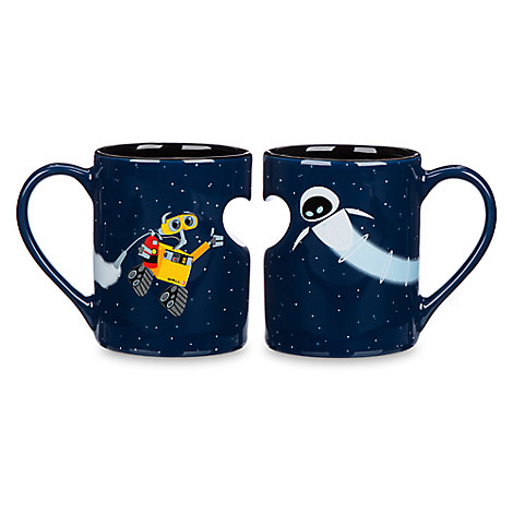 Wall e and eve mug set disney store - Walle and eve mugs ...