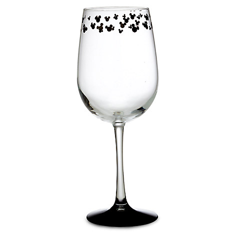 Mickey Mouse Icon Stemmed Glass - White Wine