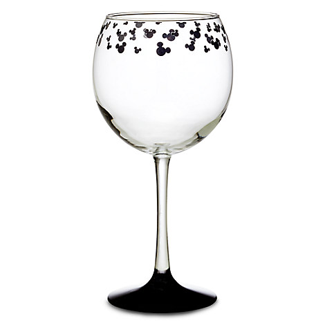 Mickey Mouse Icon Stemmed Glass - Red Wine