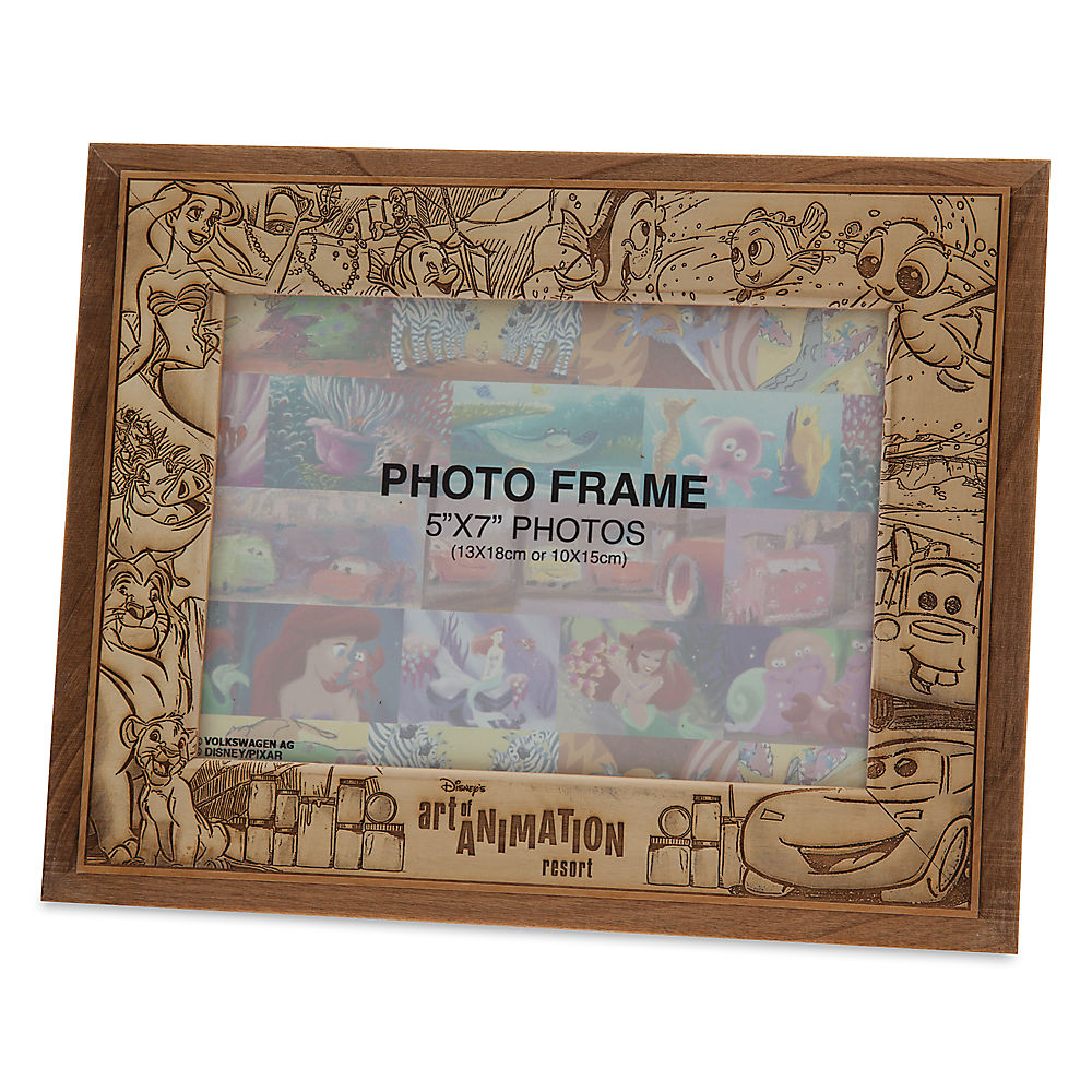 disneys art of animation resort wood photo frame 5 x 7