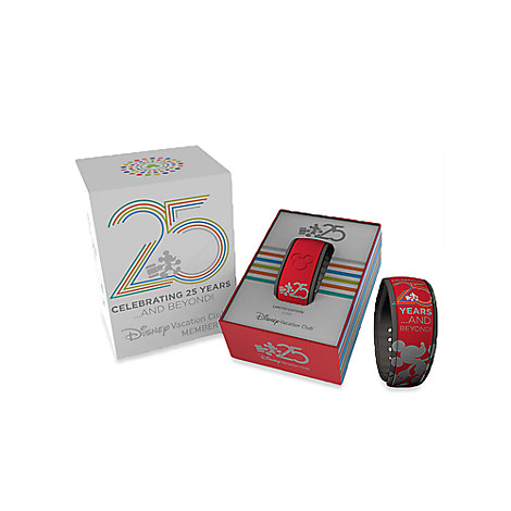 Disney Vacation Club 25th Anniversary Disney Parks MagicBand - Red - Limited Edition