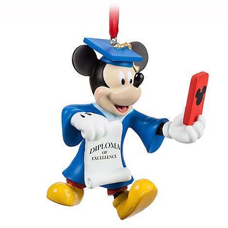 Mickey Mouse Graduate Figural Ornament