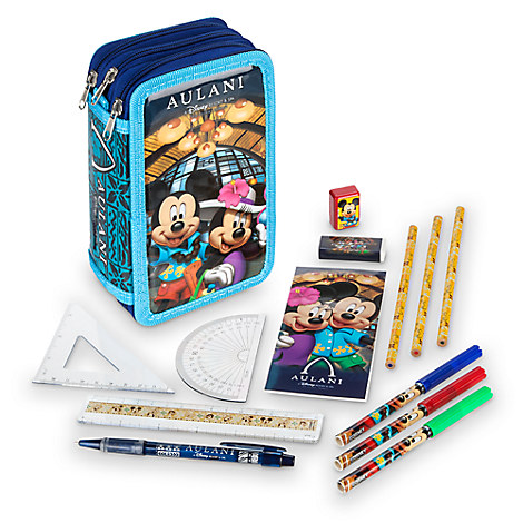 Mickey Mouse and Friends Zip-Up Stationery Kit - Aulani, A Disney Resort & Spa