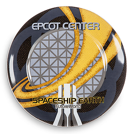 Disney Parks Attraction Art Plate - Spaceship Earth - 7''