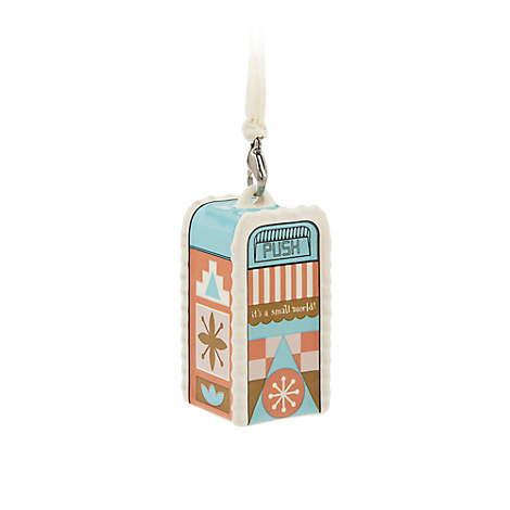 ''it's a small world'' Trash Can Ornament