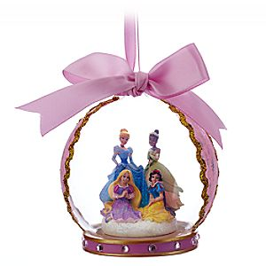 Disney Princess Glass Globe Ornament - Pink