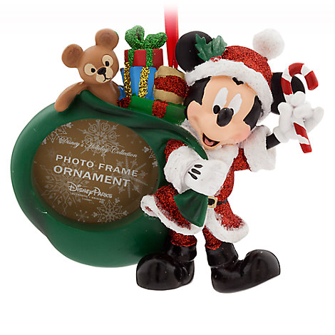 Santa Mickey Mouse Photo Frame Ornament