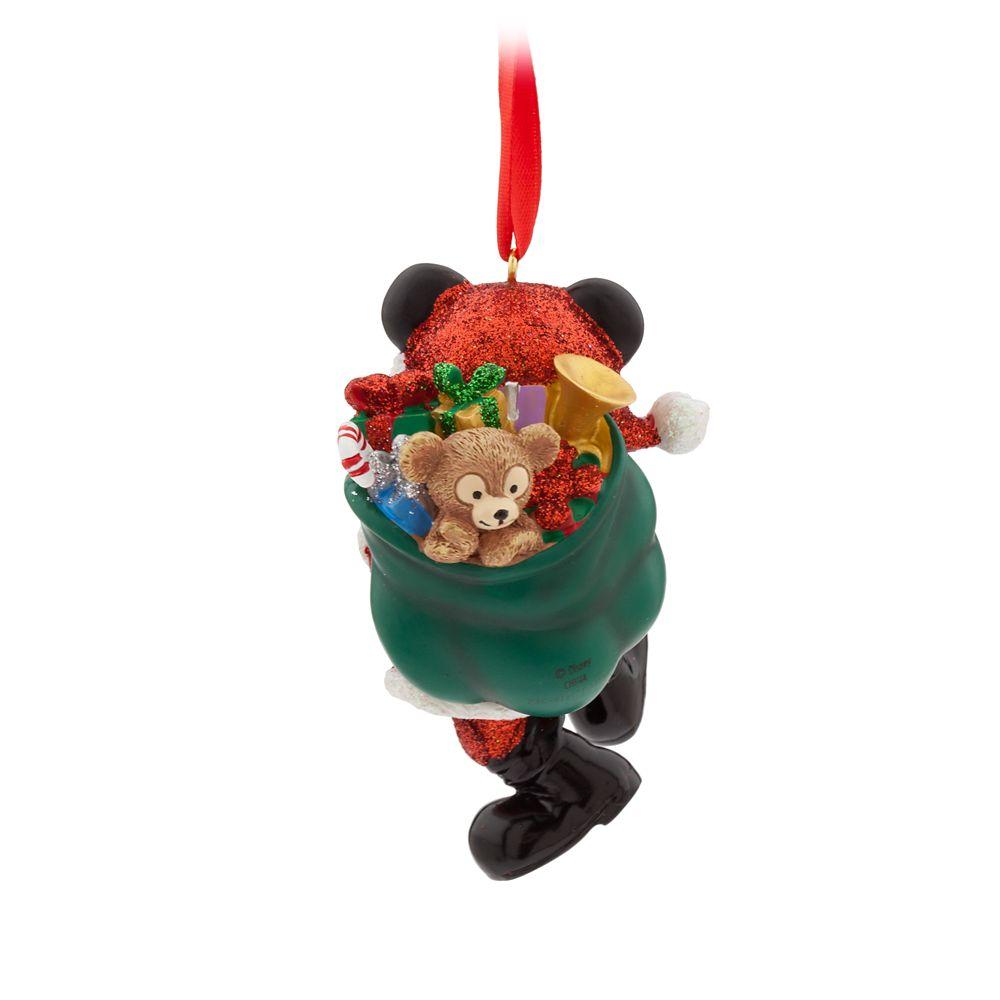 Santa Mickey Mouse Figural Ornament