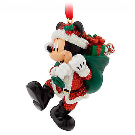 Santa Mickey Mouse Figural Ornament