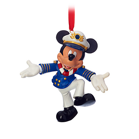 Captain Mickey Mouse Figural Ornament - Disney Cruise Line