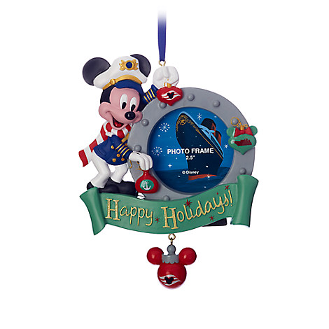 Captain Mickey Mouse Photo Frame Ornament - Disney Cruise Line