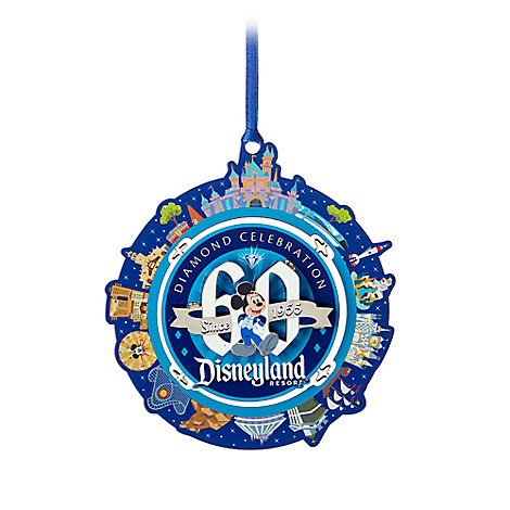 Disneyland Diamond Celebration Dimensional Metal Ornament