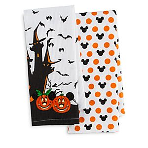 Mickey and Minnie Mouse Halloween Kitchen Towel Set