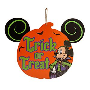 Mickey Mouse Halloween Wood Sign