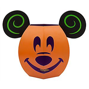Mickey Mouse Jack O'Lantern Luminary Tin