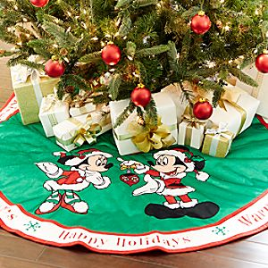 Santa Mickey and Minnie Mouse Tree Skirt