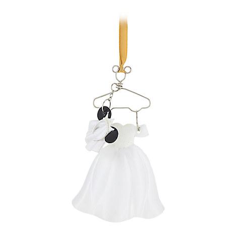 Minnie Mouse Bride Costume Ornament