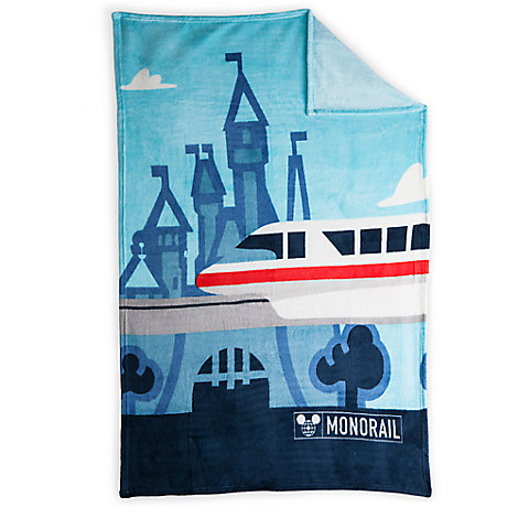 Disney TAG Monorail Fleece Throw