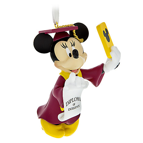 Minnie Mouse Figural Graduation Ornament