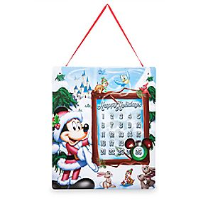Santa Mickey Mouse Magnetic Advent Calendar