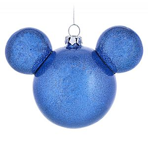 Mickey Mouse Icon Ball Ornament – Blue