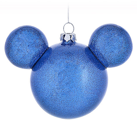 Mickey Mouse Icon Ball Ornament - Blue