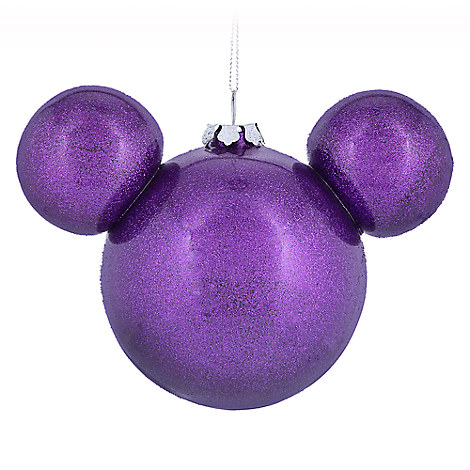 Mickey Mouse Icon Ball Ornament - Purple