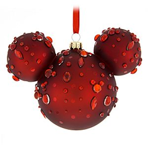 Mickey Mouse Icon Glass Ornament – Ruby Gems