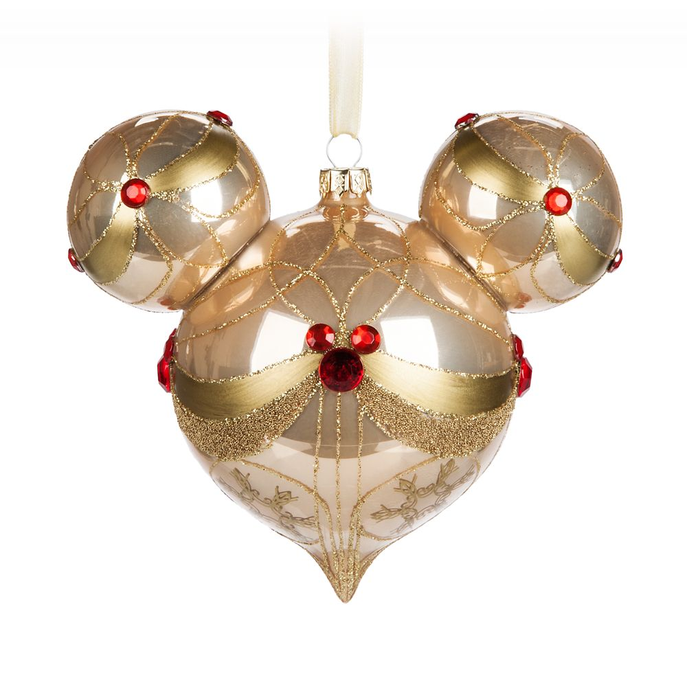 Mickey Mouse Icon Glass Ornament – Champagne