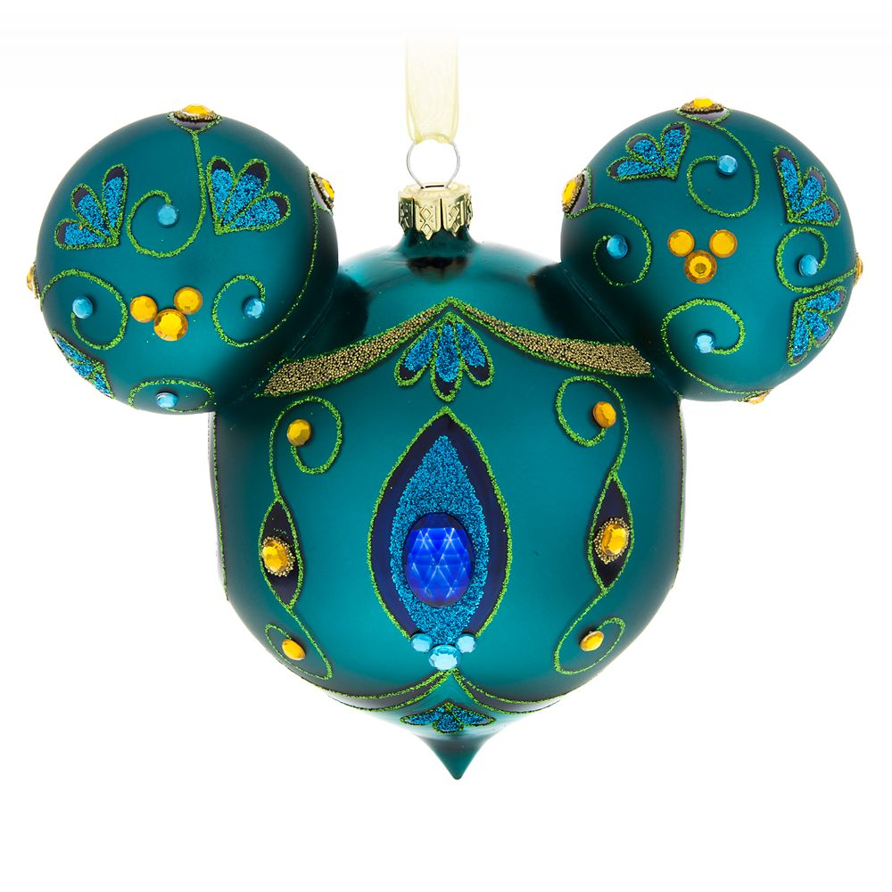 Mickey Mouse Icon Glass Ornament  Peacock Official shopDisney