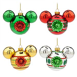 Mickey Mouse Icon Retro Glass Ornament Set