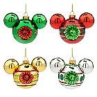 Mickey Mouse Icon Retro Glass Ornament Set